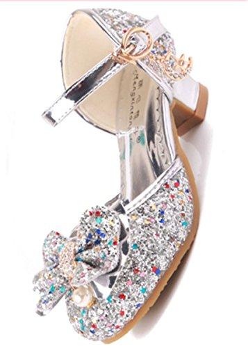 00d5d47923 YOGLY Disfraz de Princesa Zapatos de Tacón Alto Fiesta Sandalias para Niñas  Brillante Princesa Zapatilla de ...