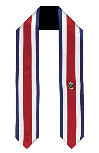 Costa Rica Flag Graduation Sash/Stole International Study Abroad Adult Unisex