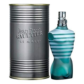 Jean Paul Gaultier Le Male Eau De Toilette Spray for Man. EDT 4.2 fl oz, 125 ml (The Best Male Fragrance)