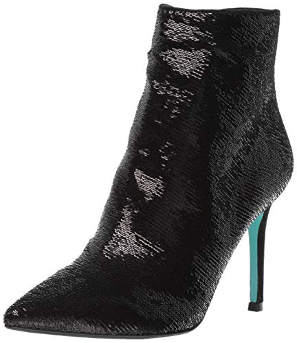 Blue by Betsey Johnson Women's SB-JEY Ankle Boot, Black Sequins, 7.5 M US ()