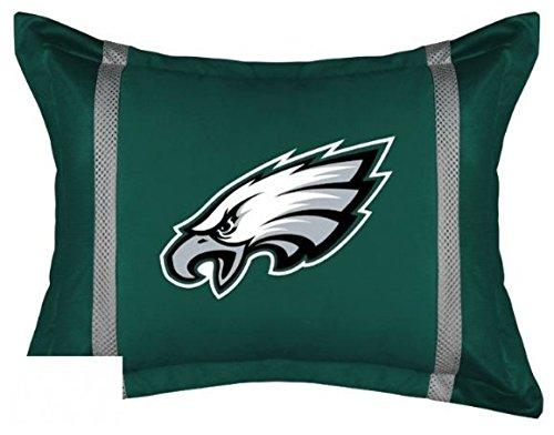 NFL Philadelphia Eagles Sideline Standard Size Pillow Sham (Philadelphia Eagles Sideline Pillow)