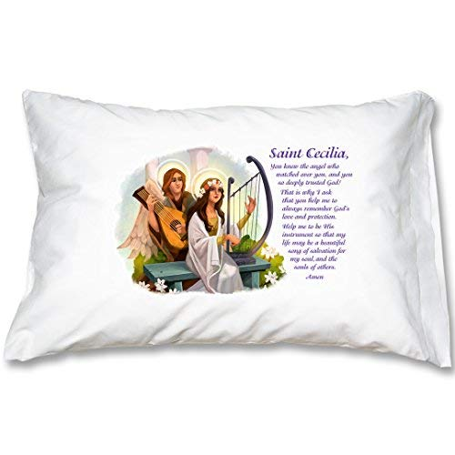 St Cecilia Prayer Pillowcase [並行輸入品] B07R83BFSM