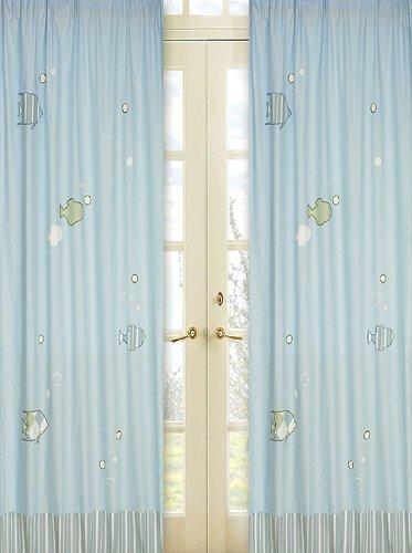 Go Fish Window Treatment Panels by Sweet Jojo Designs - Set of 2