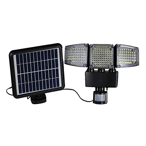 - Solar Lights Outdoor Super Bright 188 LED Motion Sensor Solar Lights Waterproof Solar Wall Lights Adjustable Triple Dual Head Lamp with Wide Lighting Area Black 1pc