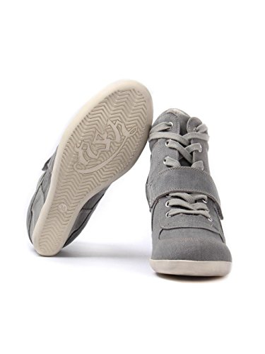 Ash Women's Washed Denim Bowie Trainers Grey Grey H5NKfGHkoY