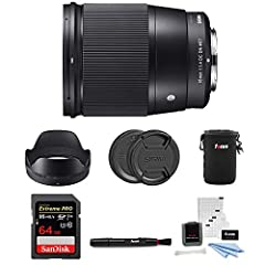 The Sigma 16mm f/1.4 DC DN Contemporary Lens is a high performance prime lens with a large aperture of f/1.4 specially designed for APS-C Mirrorless cameras forSony E mount. Engineered for today's photographer who wants to do it all, ...