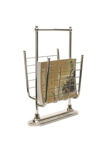 Organize It All Free Standing Magazine Rack in 13K Gold