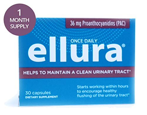 ellura 36 mg PAC (30 caps) - Medical-Grade Cranberry Supplement for UTI Prevention - Highest - Noni Extract Standardized