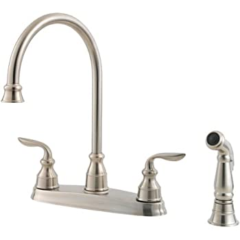 Pfister GT36-4DSS Treviso 2-Handle Kitchen Faucet with Side Spray in ...