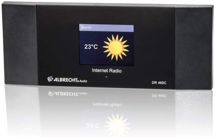 Albrecht DR460-C - Radio de internet inalámbrico, negro