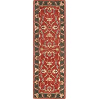 Rug Source All-Over Floral Hand Tufted Oushak Agra Indian Oriental Wool Rug 6-8 Ft Runner for Stairs