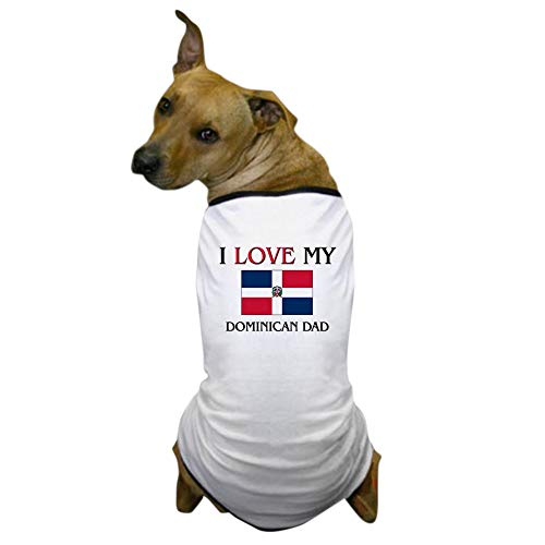 CafePress I Love My Dominican Dad Dog T Shirt Dog T-Shirt, Pet Clothing, Funny Dog Costume