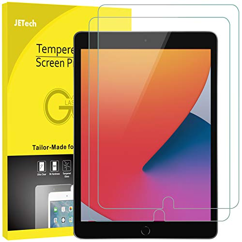 JETech Screen Protector for iPad 8/7 (10.2-Inch, 2020/2019 Model, 8th / 7th Generation), iPad Air 3 (10.5-Inch, 2019) and iPad Pro 10.5 (2017), Tempered Glass Film, 2-Pack