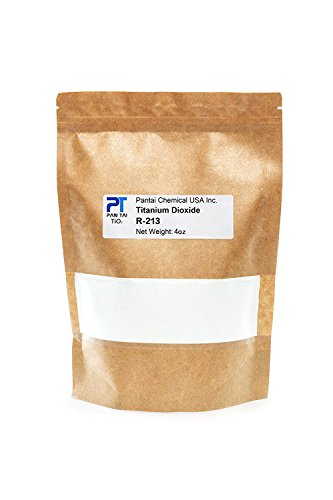 Pure Fine Titanium Dioxide (TiO2) Food-Grade Safe Colorant | Pigment, Toothpaste, Edible Use | Vegan Friendly, Non-GMO | Resealable Bag (R-213) 16oz/8oz/4oz (4oz/0.25lb)