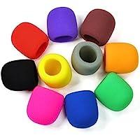 ANBANA @ 10 Pack Colors Handheld Stage Microphone Windscreen Foam Mic Cover Karaoke DJ