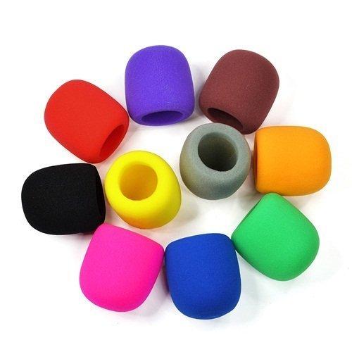(NYKKOLA 10 Pack Colors Handheld Stage Microphone Windscreen Foam Mic Cover Karaoke DJ)