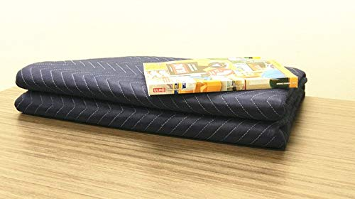 (1Pack Moving Packing Blankets 82'' x 72'' Heavy Duty Professional Quality Move Pack Furniture Pads Navy Blue Color for Storage Camping Office Soundproof Protect Your Furniture During Move (40 LB/Doz) )