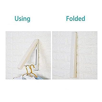 Innen-/& Au/ßeneinsatz Dachboden Einfache Installation # 81258 Beststar Faltbar Kleiderb/ügel Wand montiert Roll-Kleiderb/ügel /& Trocknen Rack Sehr platzsparend f/ür Waschk/üche Garage Edelstahl