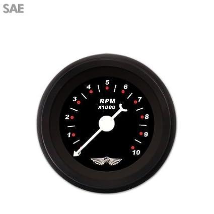 GAR118ZEAIACBD Aurora Instruments Modern Rodder Black Tachometer Gauge