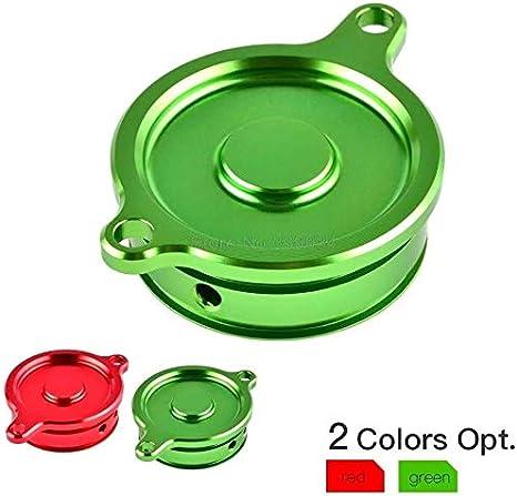 Color : Green ASDZ Motorrad-Zubeh/ör Motorrad-/Ölfilterdeckel Cap for Kawasaki KLX450R KX450F KLX 450R KLX 450 R KX 450F KX 450 F 08-2010 2011 2012 2013 2014 2015 Gute Qualit/ät
