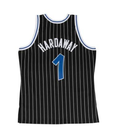 27f8dd76464 Penny Hardaway Orlando Magic Mitchell and Ness Men s Black Throwback Jesey  Large