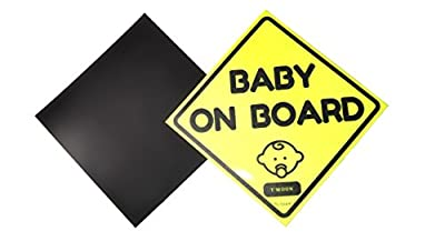 2 Pack of Magnetic Waterproof Baby on Board Sticker Sign, Reflective and Magnetic (Pack of 2)