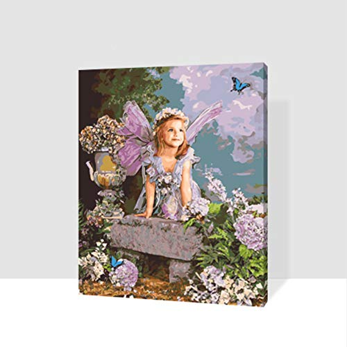 Jigsaw Puzzle 1000 Piece 3D Puzzle Angel Girl Butterfly DIY Abstract Picure for Home Decor 75X50Cm ()