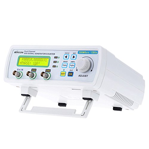 KKmoon High Precision Digital DDS Dual-channel Signal Source Generator Arbitrary Waveform Frequency Meter 200MSa/s 25MHz