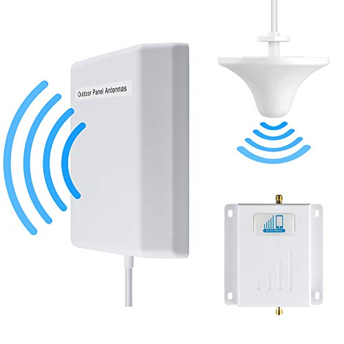 Verizon Cell Phone Signal Booster 4G LTE Cell Booster HJCINTL FDD High Gain 700MHz Band13 4G Home Mobile Phone Signal Repeater Booster Kits (Panel/Ceiling)