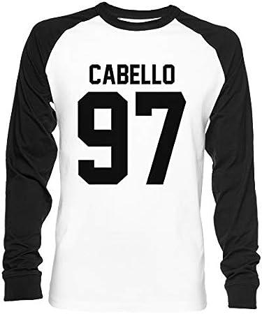 #FIFTHHARMONY, Camila Cabello Unisex Camiseta De Béisbol Manga Larga Hombre Mujer Blanca Negra