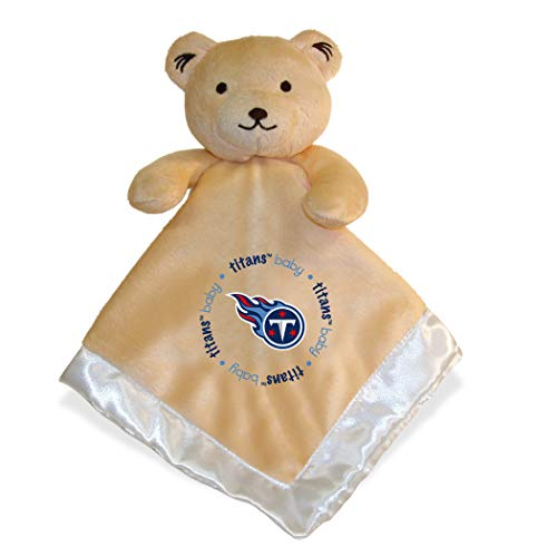 (Security Bear | Cute Newborn Baby Boys Girls Plush Blanket and Animal Security Blanket Set | Tennessee Titans )