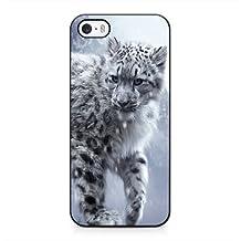 White Snow Leopard Cub iPhone 4 4s Case Blcak iPhone 4 4s Cover SDFJIJ8385144