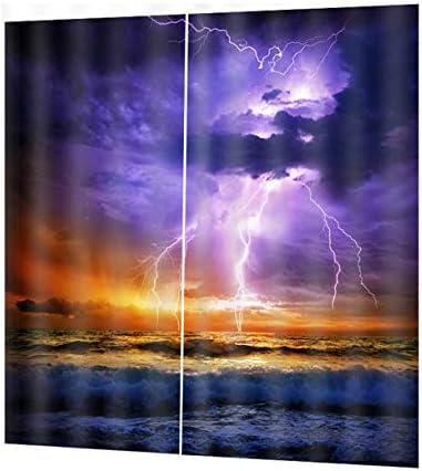QinKingstore 色とりどりの雷デジタル印刷防水カビシャワーCurtain170 * 200