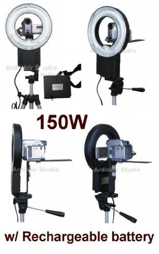 150W Continuous Video Ring Light for Panasonic SDR-S26, S7, S150, S10P1, H80, H79K, H60, H40, H18, SW21-S, SW20, PVDV203, PVDV963, PVDV103, VDR-D50, D210, D230, D100, D300, M53, ()