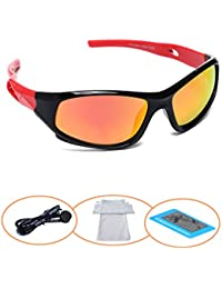 Sports Polarized Kids Sunglasses For Boys Girls Children...