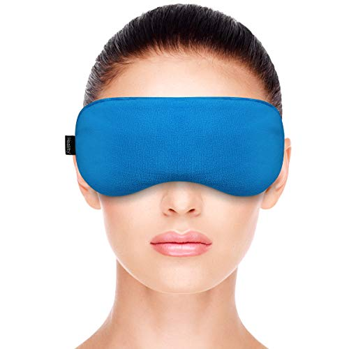 Healifty Eye Compress - Warm Heat Eye Mask- Moist Heat, Microwave Activated - Hot Eye Mask with Velvet Cover for Dry Eye, Styes, Meibomian Gland Dysfunction Relief