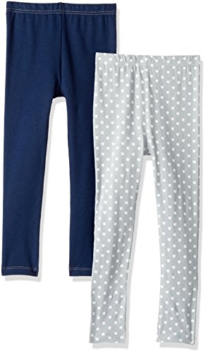 Gerber Toddler Girls 2 Pack Leggings, denim/dots, 3T ()