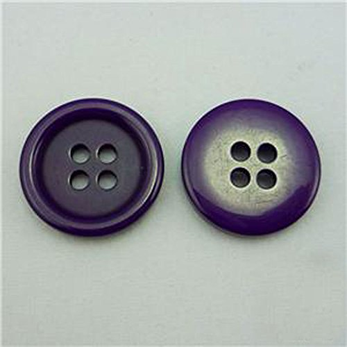 Domed Button Earrings (Dark Purple Buttons Round Sewing 18mm Size 28, 20 Pcs)