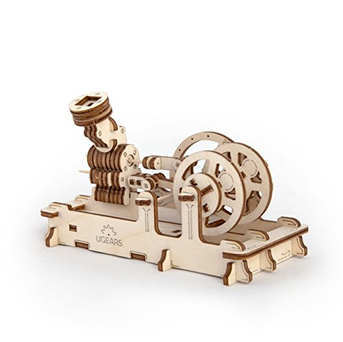 Ukrainian Bridge Wooden 3D Engine Model Kit - Balloon Air Pressure Pneumatic Piston Motor