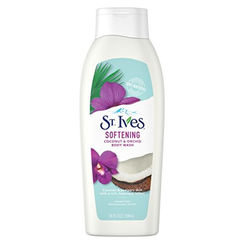 St. Ives Soft and Silky Body Wash, Coconut and Orchid 24 Oz (Pack of 3)