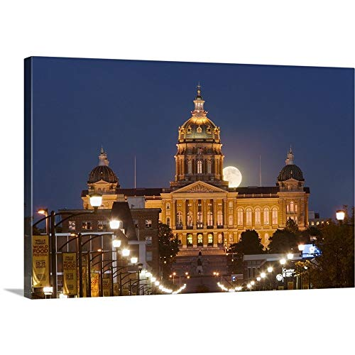 Iowa State Capitol Building - GREATBIGCANVAS Gallery-Wrapped Canvas Entitled Facade of a Government Building, Iowa State Capitol, Des Moines, Iowa by 18