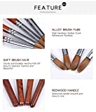 KADS Kolinsky Sable Acrylic Nail Art Brush Red Wood Pen Nail Brush for Nail Art Manicure Tool