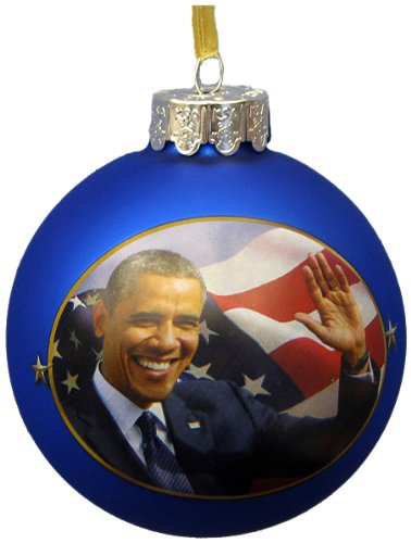 Amazon.com: Kurt Adler President Obama Glass Ball Ornament, C7533: Home &  Kitchen - Amazon.com: Kurt Adler President Obama Glass Ball Ornament, C7533