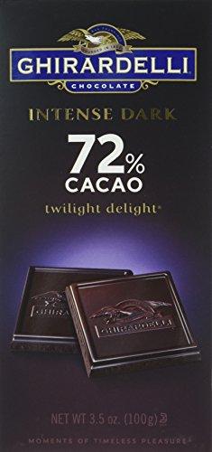 Ghirardelli Chocolate Intense Dark Bar, Twilight Delight 72% Cacao, -