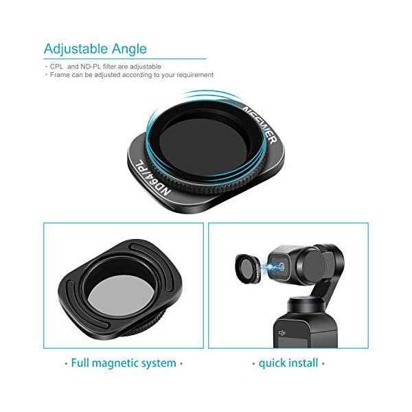 Neewer Filtri Magnetici per DJI Osmo Pocket 2/1 Fotocamera Lenti Include Filtri ND4 ND8 ND16 CPL ND32/PL ND64/PL Multi-Rivestiti con Scatola per Fotografia Esterna(Nero) 2 spesavip