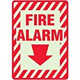 3-Way Plastic Fire Alarm Glow Sign - 10