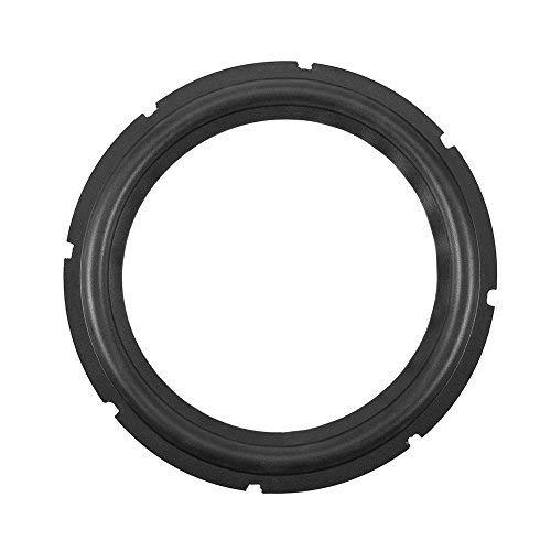 10inch Perforated Rubber Speaker Foam Edge Subwoofer Surround Rings Replacement Parts for Speaker Repair or DIY (Black)(1pcs)