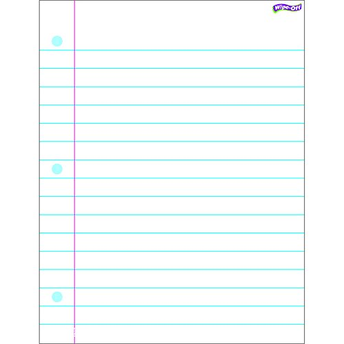 TREND enterprises, Inc. Notebook Paper Wipe-Off Chart, 17