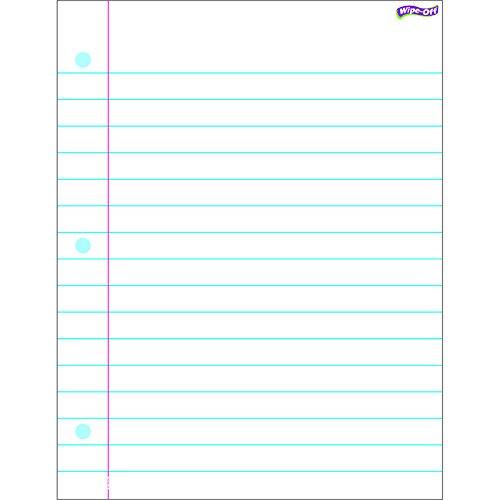 - TREND enterprises, Inc. Notebook Paper Wipe-Off Chart, 17