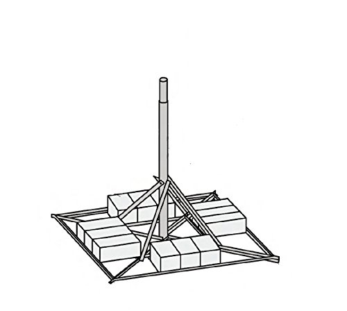 JRM23805 Non-Penetrating Mount with 2.38'' OD x .154'' Wall x 5' Mast